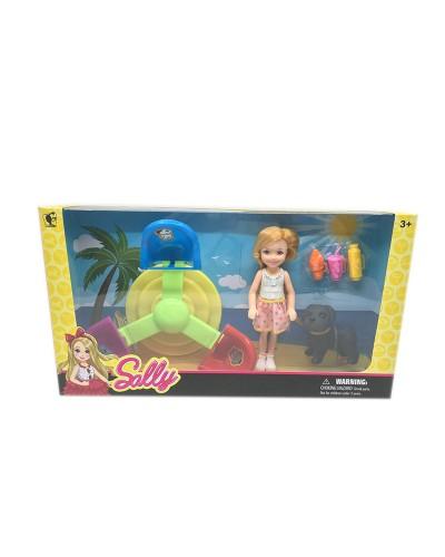 Кукла маленькая 7735-C4/C5 2 вида, с собачкой, качелей, аксес, в кор.28*6*15 см