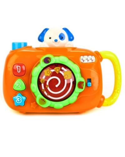 Музыкальный фотоаппарат 0609 звук, свет, в коробке 12,7*5,2*19,9 см