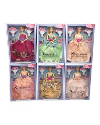 Кукла  YF1157G 6 видов, шарнир, в бальном платье, в кор. 23*5*32 см