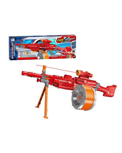 Бластер батар 7053B автомат, прицел, поролон. снаряды, в кор. 81,5*11*28,5см