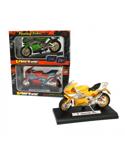 Мотоцикл инерц. HX778 3 цвета, в кор. 13*3см