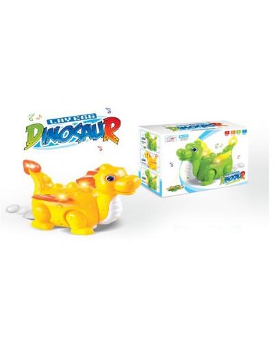 Муз. животное V77C Динозавр, батар, свет, звук, в коробке 21*17,4*11см