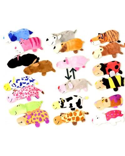 Мягкая игрушка-вывернушка CLR163 10 видов, 22*8*7 см, по 10шт в пакете 38*48см