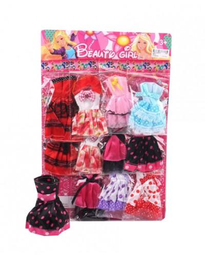 Одежда для кукол 989-2 4 вида,12 платьев на планшетке 45*30см, цена за планш.