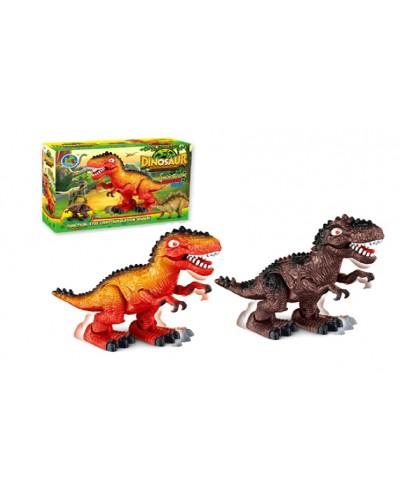 Животные 388-3 2 вида, батар, динозавр, звук, в коробке 25,5*8,7*18см