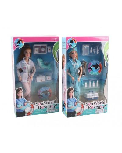 """Кукла """"Доктор"""" JX200-13 2 вида, питомец, мед аксесс, в кор. 35*7*20см"""