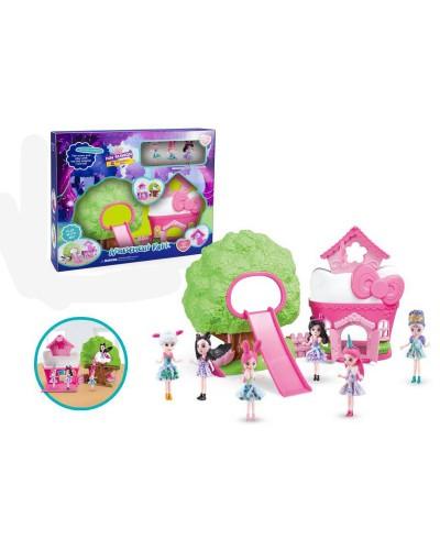 """Кукла """"E"""" 11690 свет / муз, куколки, мебель в наборе, в кор. 38,5*9,5*45см"""