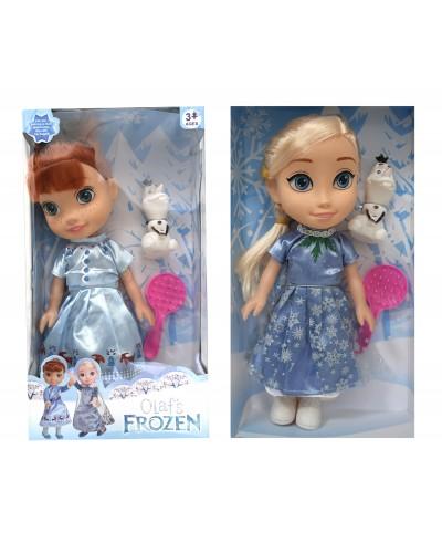 "Кукла ""F"" 52AB 2 вида, муз, Олаф, расческа, в кор.15,5*7,5*28,5см"