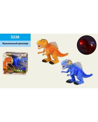 Муз.динозавр 3326 батар., звук, свет, в кор. 20*10,5*18см