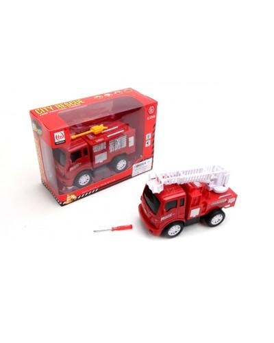 Пожарная машина батар. 2022-51 свет, звук, в кор. 21*8,5*15см