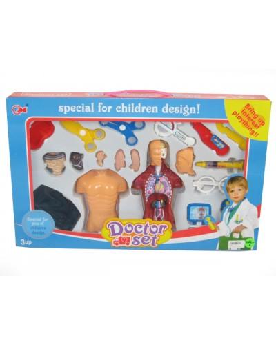 Доктор 2902  шприц, градусник, ножницы, модель тела Анатомия,  … в кор.58*7*36см