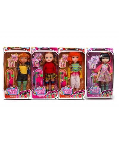 """Кукла 1403N 4 вида, 14"""", цветные пряди на заколках в наборе, в кор.35*7.5*18cm"""