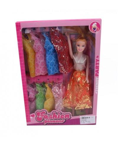 Кукла  603 6 видов, с платьями, в кор.23*5*32,5 см