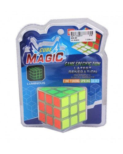 Кубик логика 858-B9 светящийся в темноте, 3*3, на блистере 19*15*8см