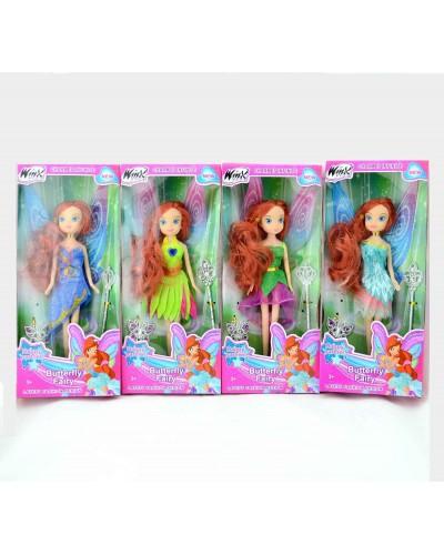 """Кукла """"W"""" 8104A 4 вида, заколка, волш палочка, в кор.12,5*4,5*29см"""
