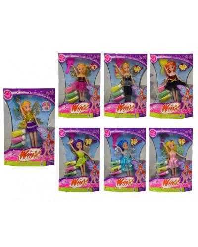 """Кукла """"Winx"""" 3666 с крылышками, 5 видов, в слюде 24см"""