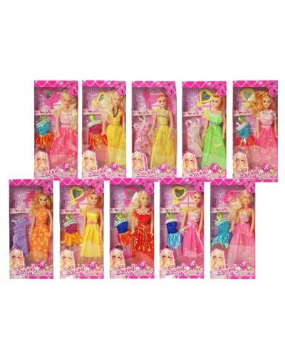 """Кукла типа """"Барби"""" 8201-1/2/3 15 видов, с платьем и аксесс, в кор. 14*5*33см"""