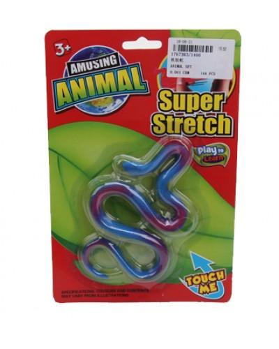 Животные резиновые-тянучки 1406 змея, на планшетке 22,5*15*1,5см