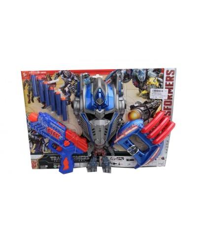 Игровой набор  575-2 бластер с полон.снарядами, маска, на планш. 32*44,5*5,5см
