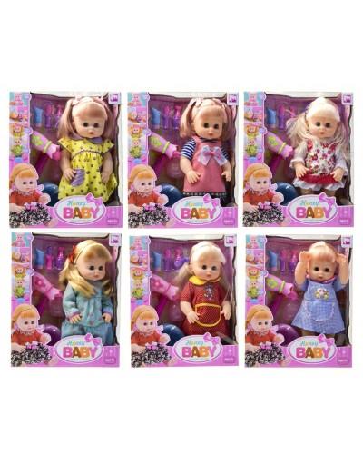 Кукла функц 36066-2 6 видов, пьет/пис, муз. РУС чип, горшок, бутыл, фен, парикмах набо