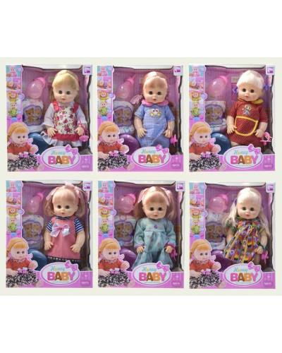 Кукла функц 36066A 6 видов, пьет/пис., муз. РУС чип,  горшок, бутыл,пдогуз, в кор