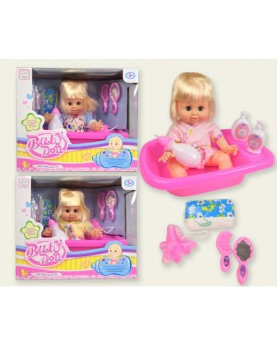 Кукла функц. KY020923 3 вида, муз. пьет-пис, ванная, горшок,аксессуары, в кор. 32,5*22*27,5с