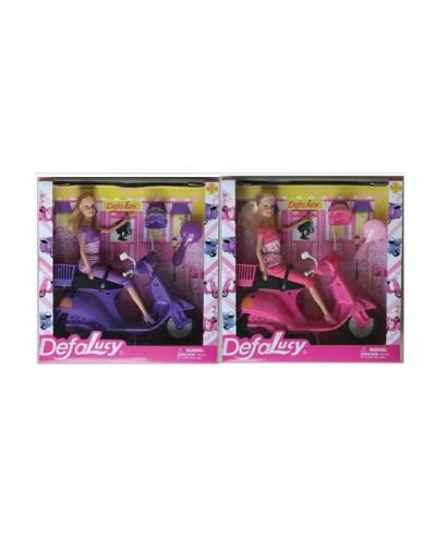 "Кукла ""Defa Lucy"" 8206 2 цвета скутер, аксессуары, в кор, 24*15*5см"
