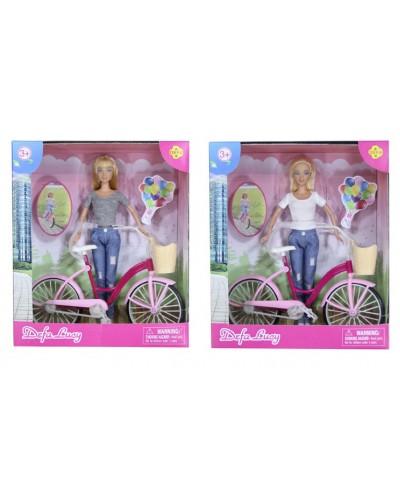 "Кукла ""Defa Lucy"" 8361 2 вида, с велосипедом в кор.27*10*32см"