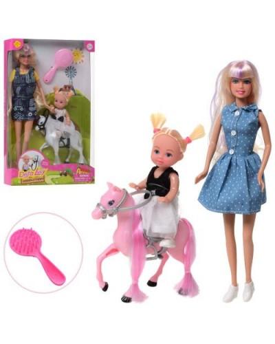 """Кукла """"Defa Lucy"""" 8399 2 вида, с куколкой, лошадкой, в кор.31*5,5*19см"""