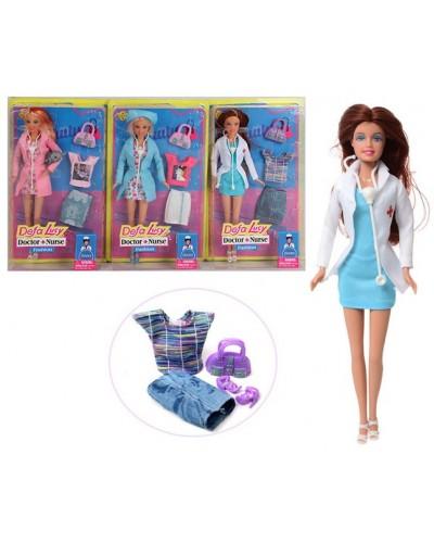 "Кукла ""Defa Lucy"" 8403 3 вида, доктор, с аксесс, в кор.32,5*5*20см"
