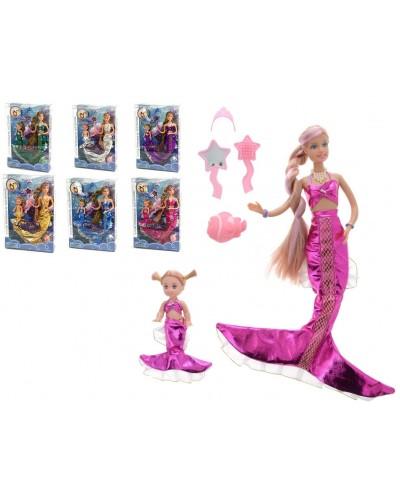 """Кукла """"Defa Lucy""""""""Русалочка"""" 21011 кукла 29см, 6 видов, меняет цвет волос, с куколкой, в кор."""