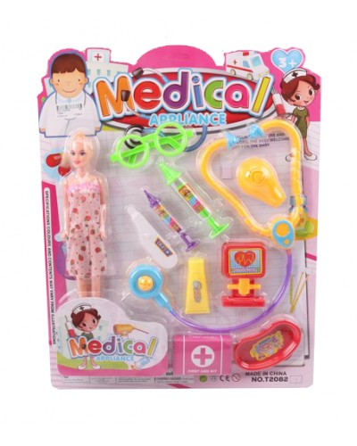 Доктор T2082-1 с куклой, 10 инструментов, на планшетке 48*38*3см