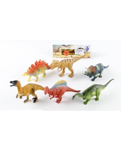 Животные 8883 динозавры, 6 шт в пакете 15*4*7см
