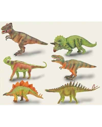 Животные Q9899-306 динозавр, 6 видов, в коробке 14*19*7см