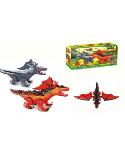 Животные 688-3 2 вида, батар, дракон, звук, в коробке 24,7*7,4*13,7см