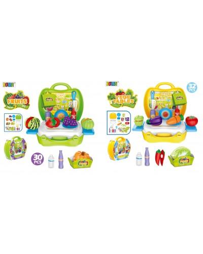Продукты 8348AB 2 вида, фрукты/овощи, аксес, в чемодане 26*23,5*28 см