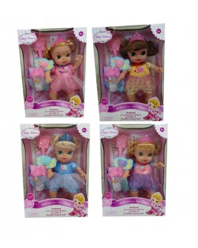 "Кукла ""ПД"" A372B 4 вида расческа, бутылка, аксес., кукла 31 см, в кор."