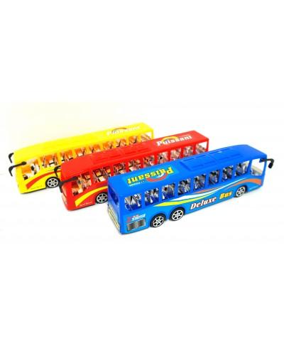 Автобус инерц. XB001-1A 3 цвета, впакете 20*7см
