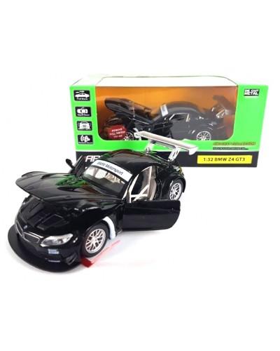 "Машина метал. 7848 ""АВТОПРОМ"" спорткар 1:32 BMW Z4 GT3 свет, звук, в коробке 18*9*9см"