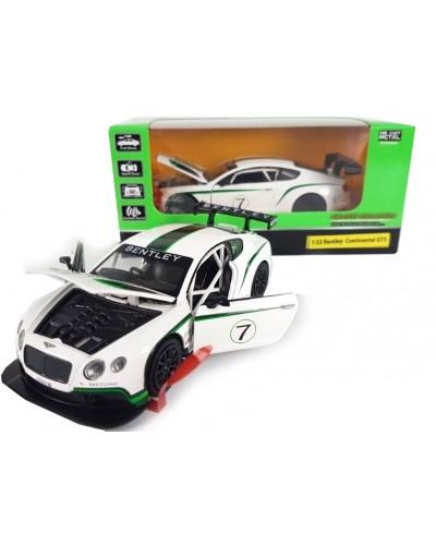 """Машина метал. 7849 """"АВТОПРОМ"""" спорткар 1:32 Bentley  Continental GT3 свет, звук, в ко"""