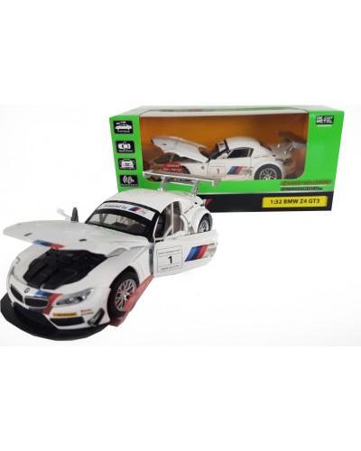 "Машина метал. 7851 ""АВТОПРОМ"" спорткар 1:32 BMW Z4 GT3 свет, звук, в коробке 18*9*9с"