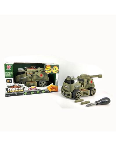Конструктор QL5012C/13C/15C/16C танк, в откр. кор. 30*18*15см