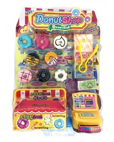 Кассовый аппарат KDL888-11B пончики, купюры, аксес, на планш. 28*20*8 см