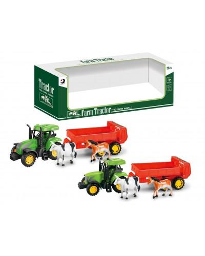 Трактор инерц 1601-4BT 2 вида микс, в кор 36,5*9,8*12,5см