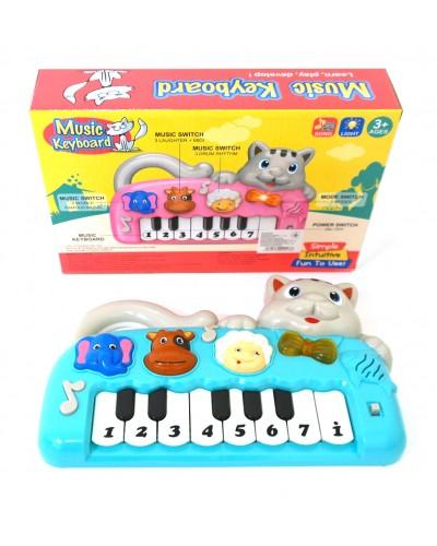Муз разв. орган 999-10B батар., звуки животных, в коробке 28*18,5*6 см