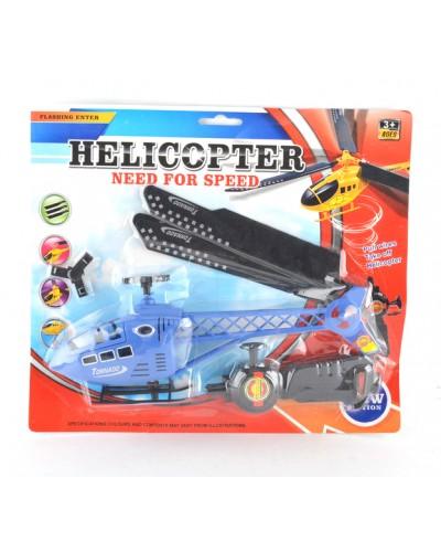 Вертолет запускалка 4806 на планшетке 32*4,5*28см