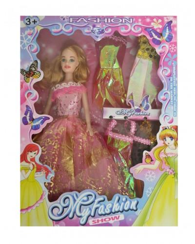 Кукла  6161-12A с набором платьев, в кор.33*4,5*24 см