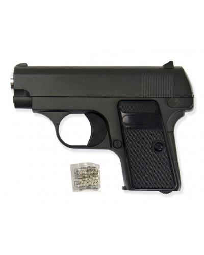 Пистолет метал.пластик G.1 с пульками в коробке 14*10*3см