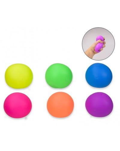 """Антистресс с """"мукой"""" M03053 цветные мячики 6см,12шт в дисплей боксе 27,5*20*6,5см/цена за шт"""