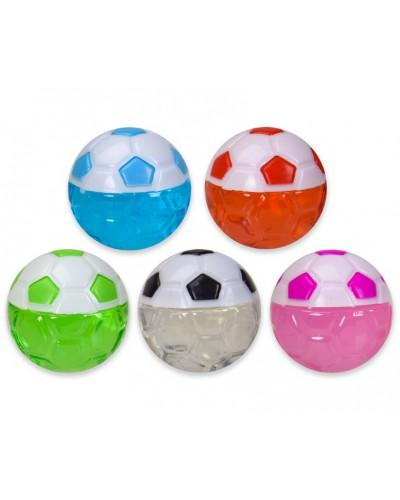 Лизун M02983 футбольный мяч, 5 цветов, 5,5см, 20шт в дисплей боксе28*22*6см/цена за шт/
